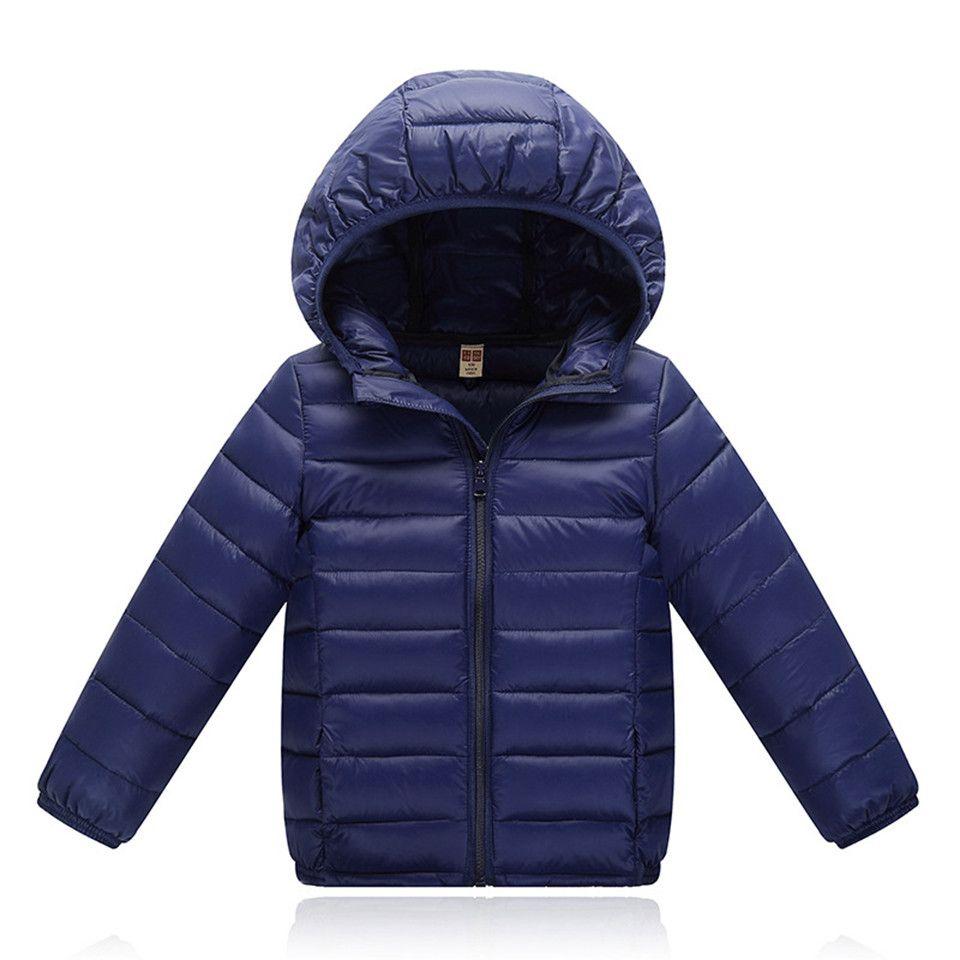 5c243fa59 Children Jacket Outerwear Boys Girls Spring Autumn Warm Ultra Light ...