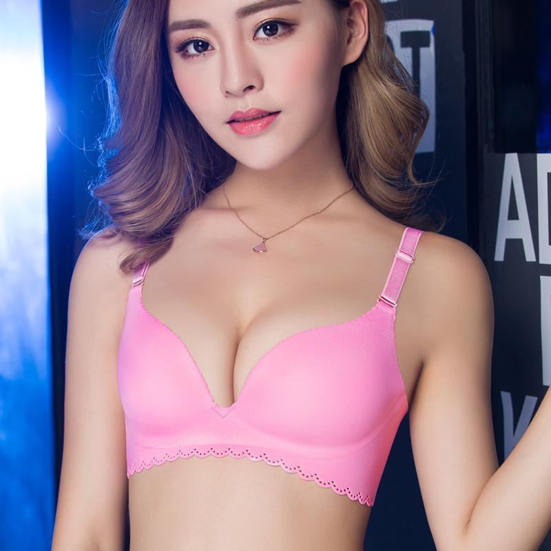 3ee602830 Hot Push Up Bras 3 4 Cup Sexy seamless bralette women s underwear One-Piece  Wire Free women bra Ladies brassiere Female