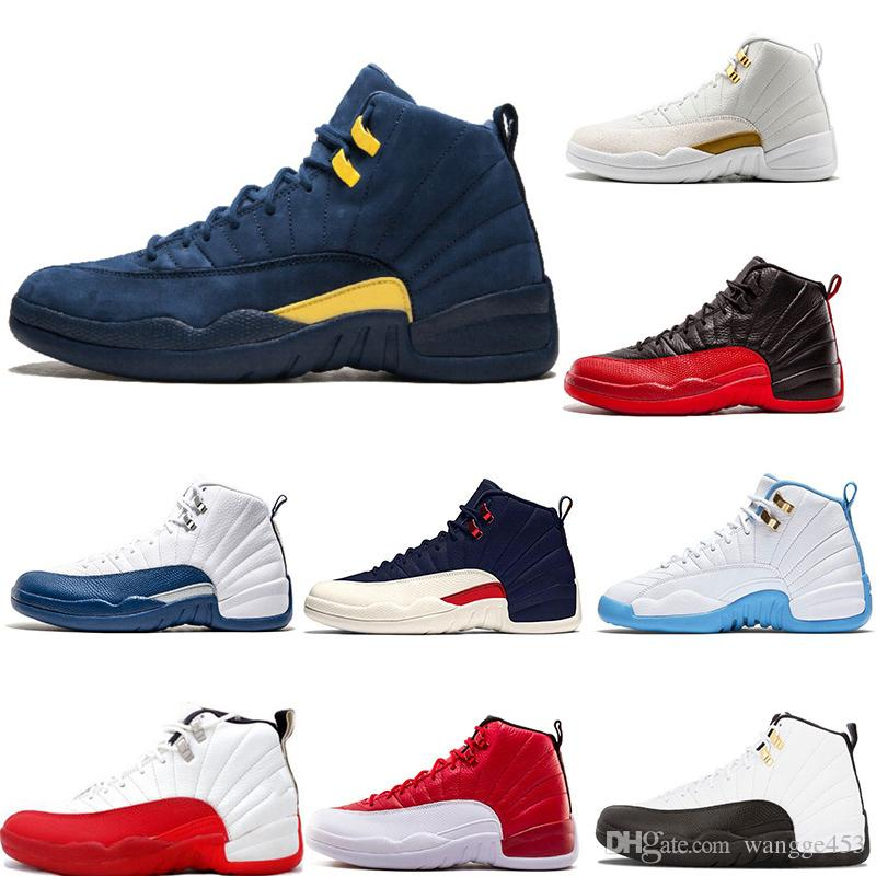 62fab00d9443 Cheap New Men Basketball Shoes 12 12s White Grey Playoff College ...