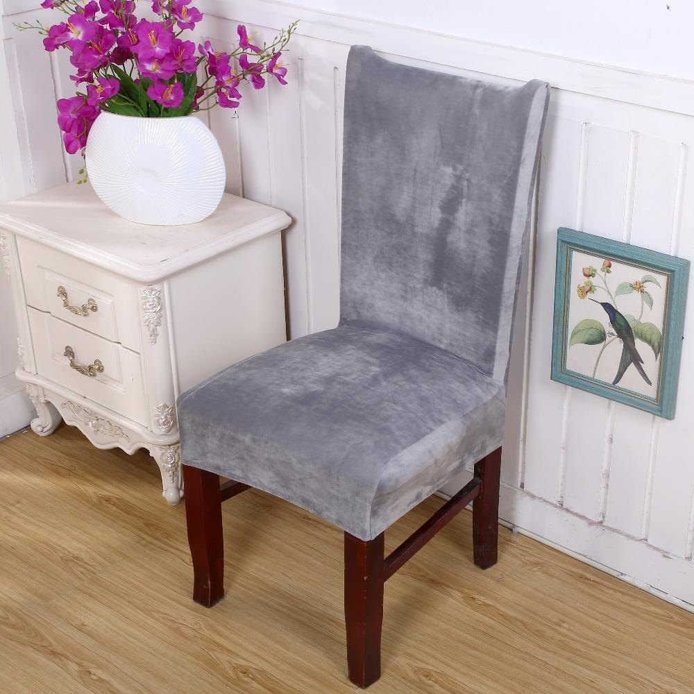 Genial Winter Thickening Plus Velvet Elastic Chair Cover Detachable Stretch  Elastic Cover Home Hotel Chair Covers Chair Cover Sewing Patter Chair Covers  Plus ...