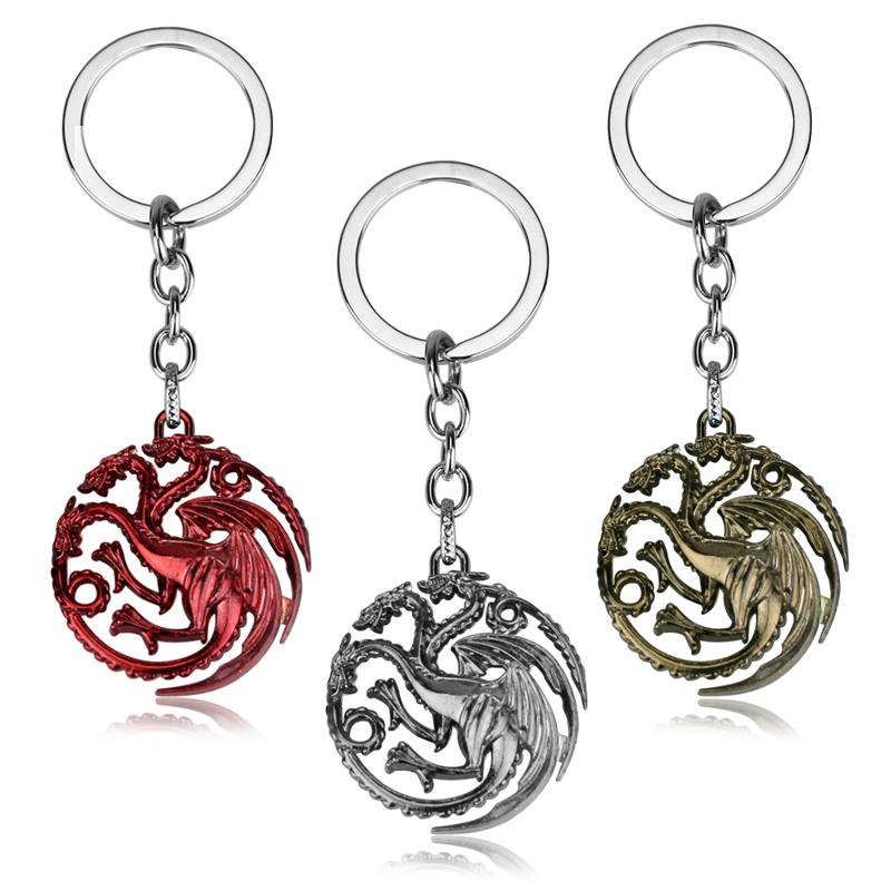 Movie Seriers Game Of Throne House Stark Keychain Alloy The Song Of And  Fire Targaryen Badges Keyring Gift Keyrings Personalised Keyrings From  Arrowhead 2d1ae4259a03