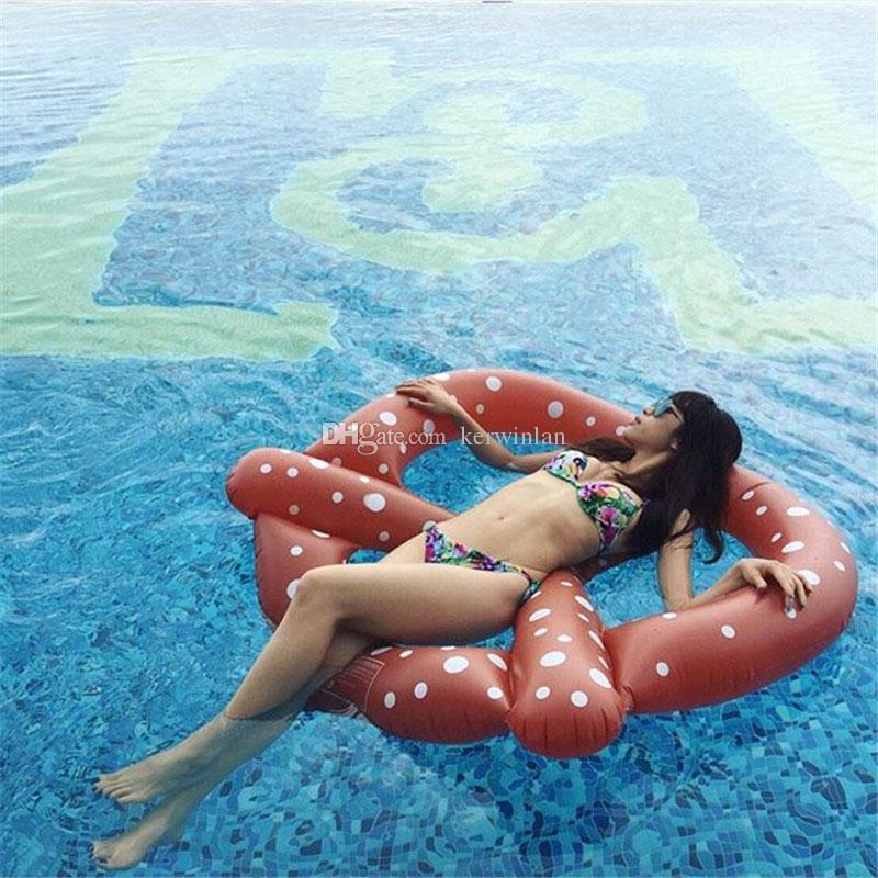 Aufblasbare Pool Float 140 cm Brot Schwimmen Schwimmt Donut Schwimmring Floß Sommer Im Freien Strand Wassersport Spaß Partei Spielzeug