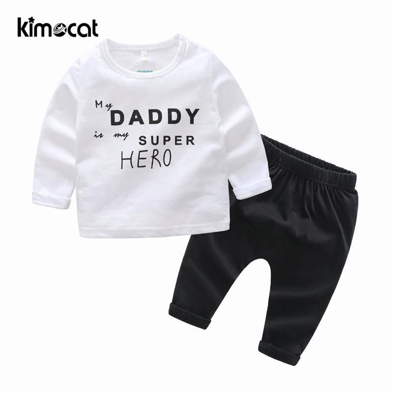 50e12fe0e4d6 2019 Kimocat Newborn Baby Boy Clothes Cotton Comfortable Fabric High ...
