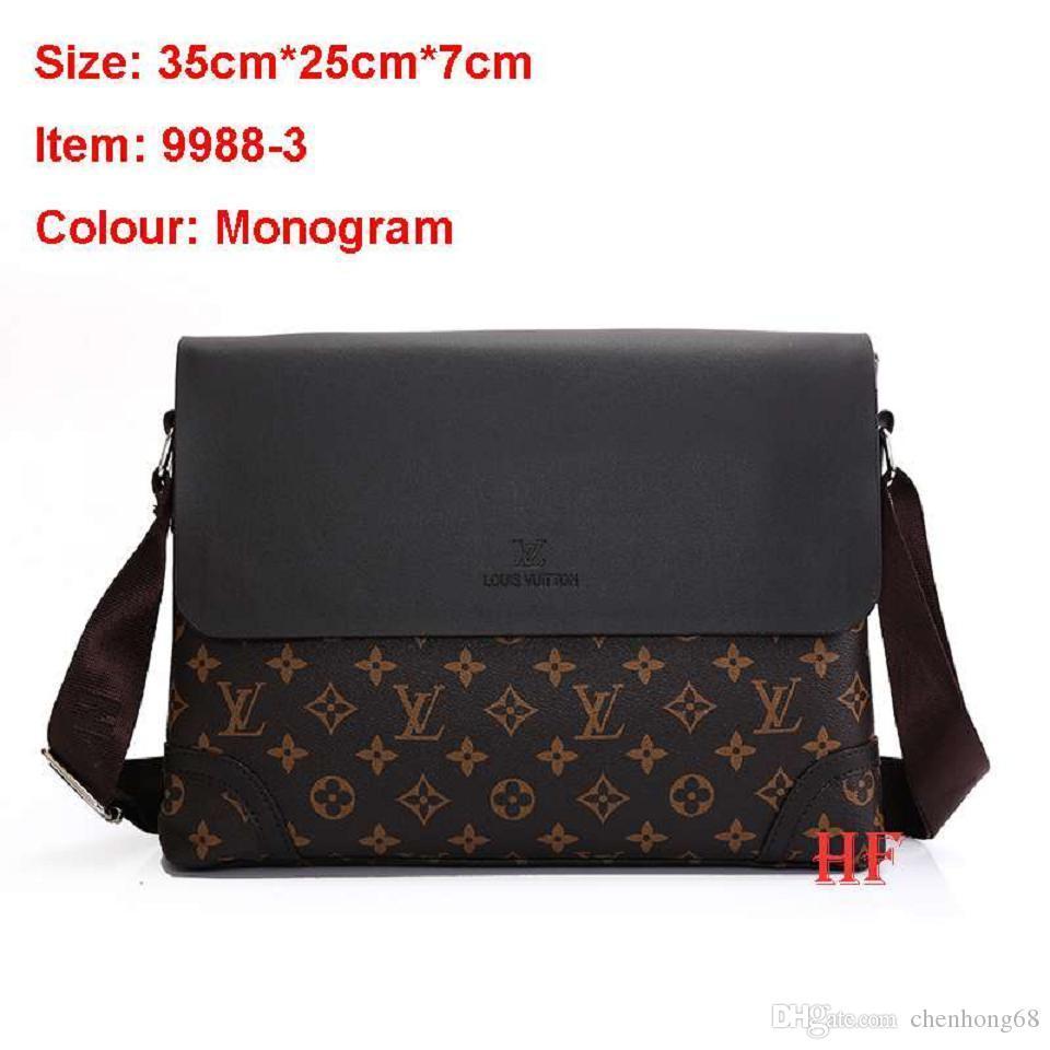 Cheap Korean Men Business Casual Bag Best Small Mens Shoulder Bag Leather dce3a44a35dad