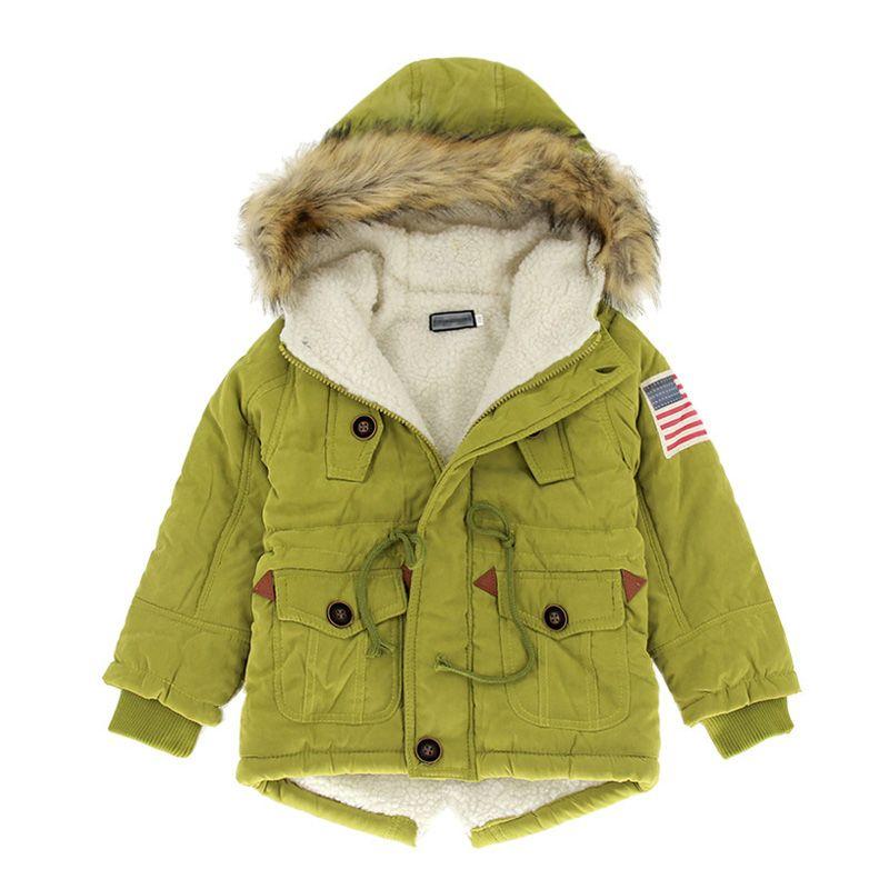 17c5f6dc74a9 2017 Girls Boys Coats   Jackets New 2 10T Autumn Winter Boys USA ...