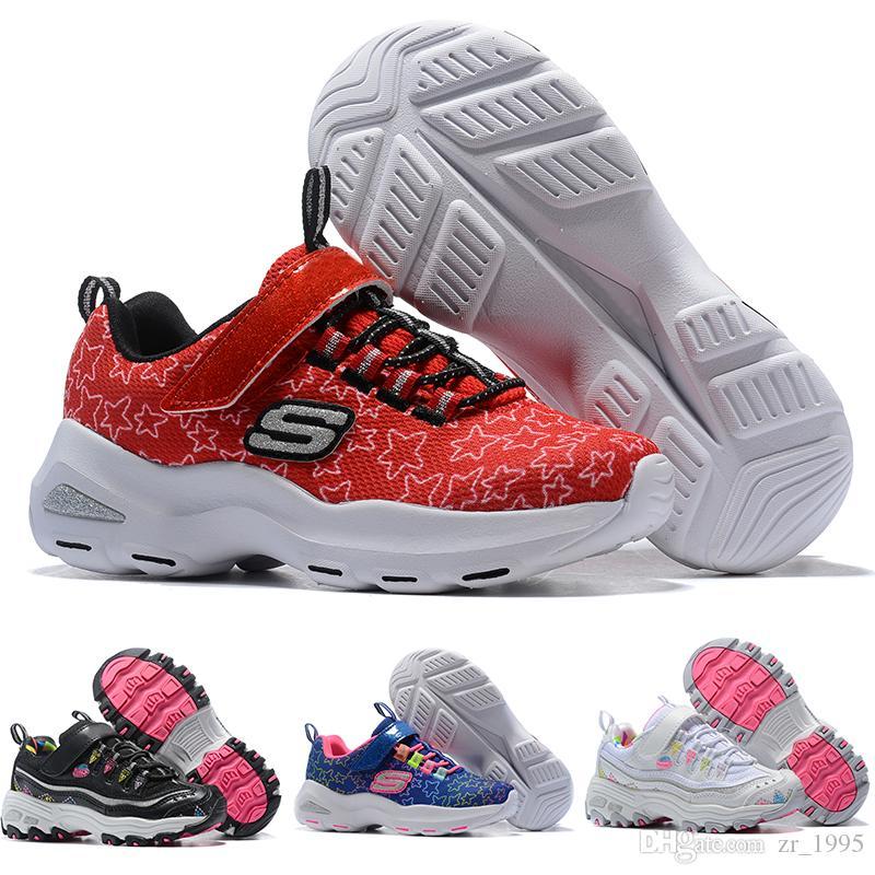2151f84a Skechers Kids Fedex ups gratis nave de alta calidad de cuero del bebé  mocasines niños borla moccs zapatos de bebé sandalias flecos zapatos 2016  ...