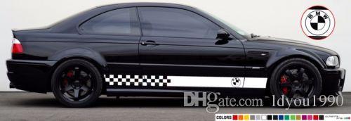 Etiqueta do decalque Jogo da listra compatível com as saias do farol do xénon do diodo emissor de luz de BMW M3 E46
