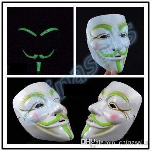 новый взрослый Хэллоуин Рождество венецианская маска террористические агенты V лицо световой маска партии бар маска косплей реквизит