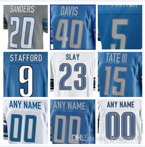 new product aced1 7d433 2018 Detroit Barry Sanders jersey Lions A'Shawn Robinson Eric Ebron women  Johnson salute to service american football jersey factory cheap