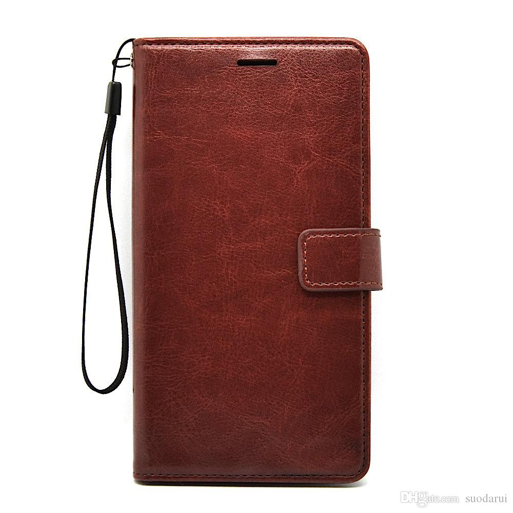 Flip leather Case for Motorola Moto Z2 Force TPU + PU Leather Magnetic Book Wallet Cover Pouch With Lanyard