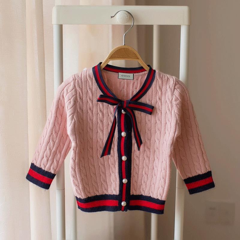 82e1c26e6bd7d Acheter Filles Cardigan Pull Bébé Fil Vêtements 2018 Nouveau Motif Automne  Robe Princesse Enfants Robes De  20.91 Du Baby suit