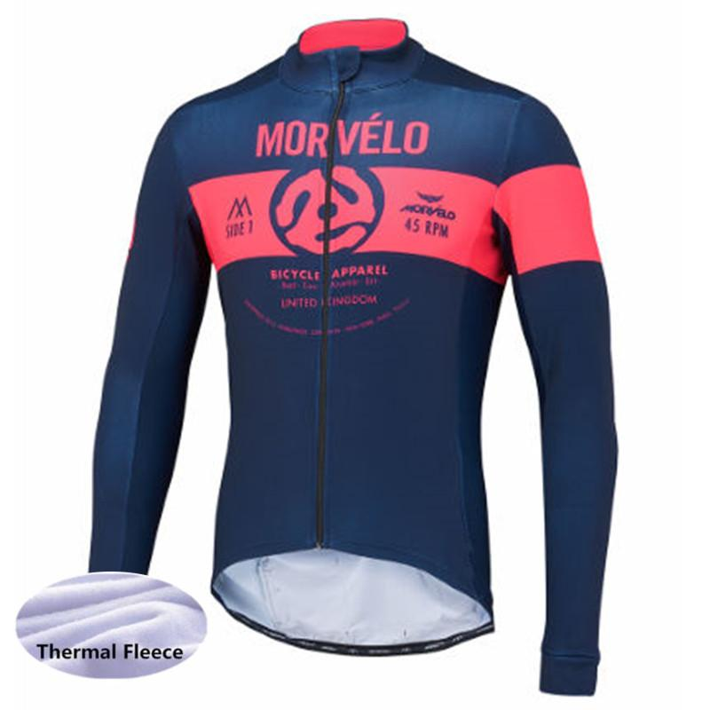 Winter Long Sleeve Cycling Jersey Jacket Ropa Ciclismo Bicycle Pro Team Bike  Clothing Maillot Morvelo Thermal Fleece Mens 2018 Sports Shirts Mens Tops  From ... 2f3385af7