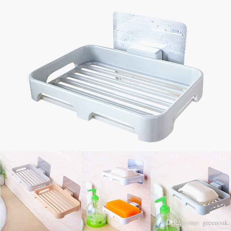 Pasting Wall Mounted Soap Dish Tray Seamless No Drilling Reusable - Ceramic soap dish adhesive