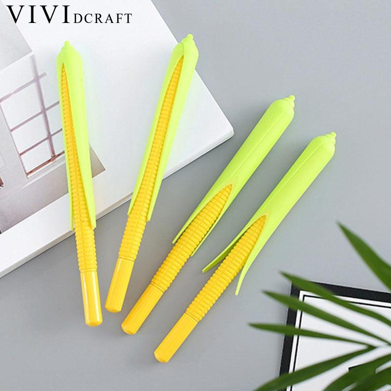 Kawaii Papeleria Corn Styling Album 0.5mm Gel Pen Cute Unisex Pen Gift For Kids Stationery Office And Learning School Supplies