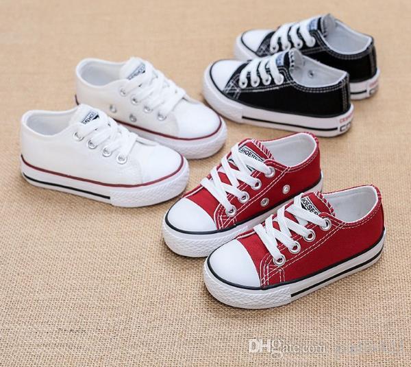 fb94370b4 Compre Zapatos De Lona Para Niños Zapatillas De Deporte Transpirables Para  Niños Marca Zapatos De Niños Para Niñas Pantalones Vaqueros De Mezclilla  Casual ...