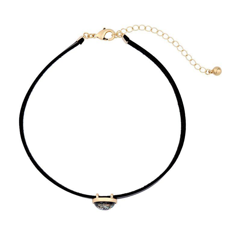 Leopardo Padrão Geométrico Pingente Colares Para As Mulheres de Liga de Zinco Cor de Ouro Bijoux Femme Declaração Acessórios Kolye CC atacado jóias