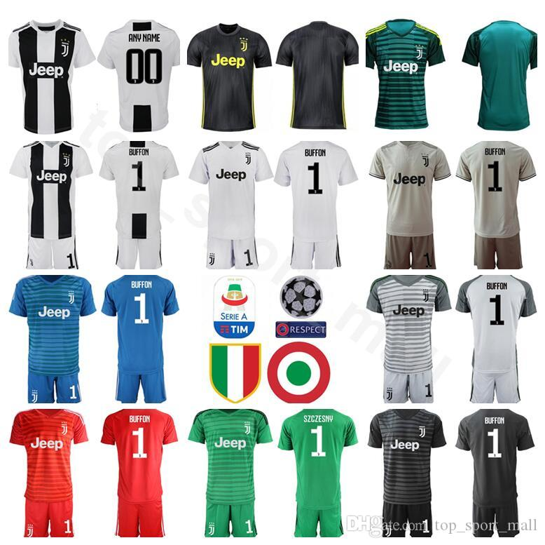 319119278 2019 Serie A Juventus Soccer GK Goalkeeper 1 Wojciech Szczesny Jersey Set  2018 2019 Men 1 Gianluigi Buffon Football Shirt Kits Custom Name Number  From ...