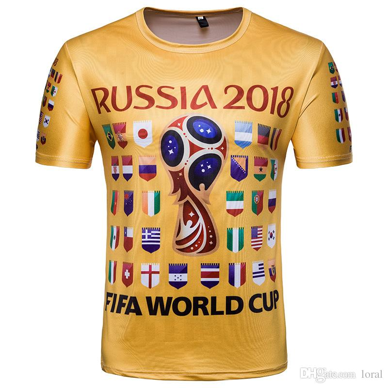 2018 Russia FIFA World Cup Football Fans Tshirts Men Short