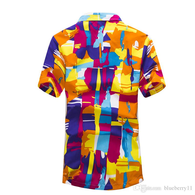 c149c7bad 2019 Fashion Men Hawaii Shirt Beach Floral Shirt Tropical Seaside Hawaiian  Shirt Quick Dry Brand Camisas Mens Dress Shirts Big Size M 5XL From  Blueberry11, ...