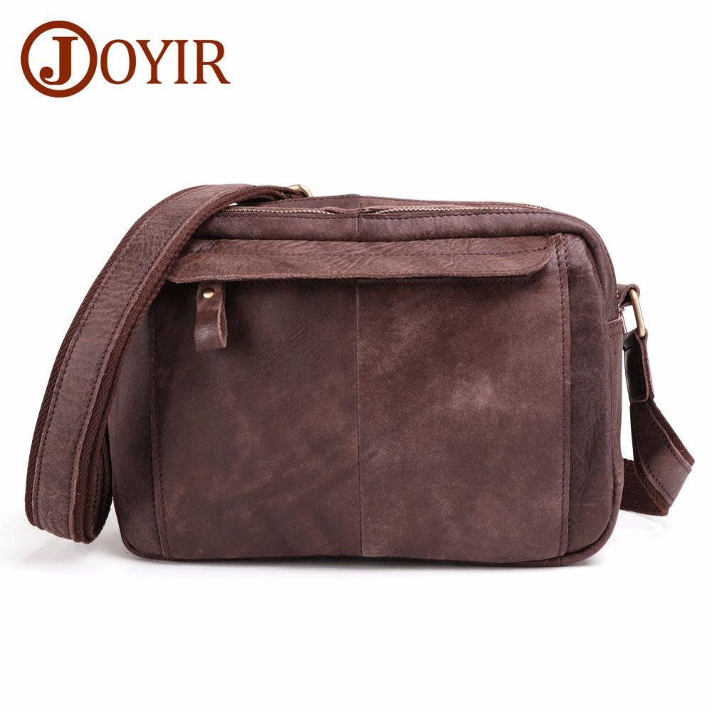 f87a94d4c3ae JOYIR Cow Genuine Leather Crossbody Bag Vintage Men Messenger Bags Small  Ipad Shoulder Bag Casual Travel Street Bags Male Bolsas Leather Bags  Crossbody ...