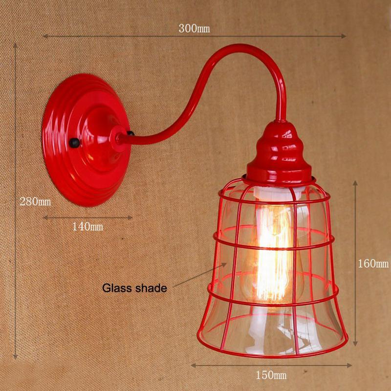 Acheter Applique Murale Vintage Éclairage Lampe De Mur En Verre Clair Pour  Salle À Manger Salon Allée Lit Balcon Café Bougeoir De $65.88 Du Stylenew  ...