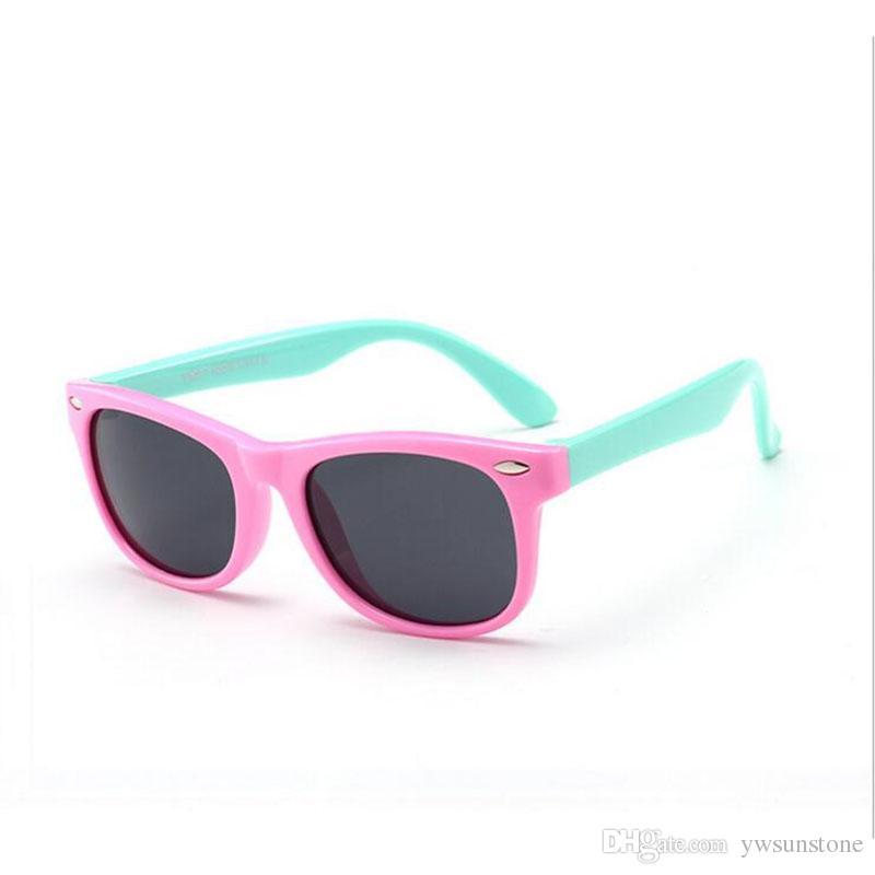 76b31729d3227 TR90 Flexible Polarized Kids Sunglasses Children Safely Coating Sun Glasses  UV400 Silica Eyewear Shades Sun Glasses Kids Sunglasses Locs Sunglasses  From ...