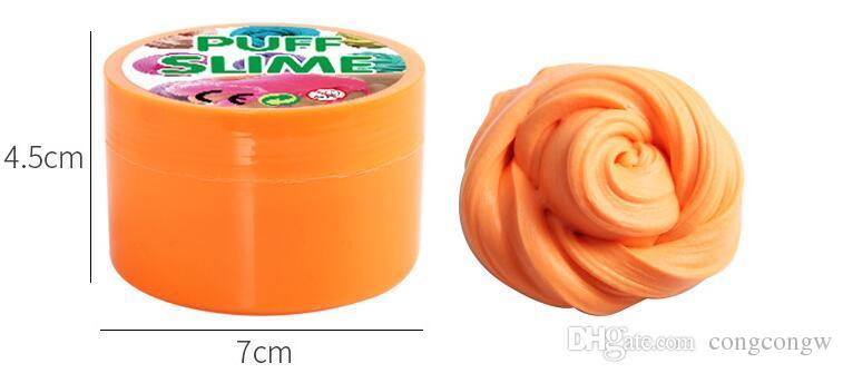 Puff Slime Plasticine DIY Algodão Lama Fofo Scented Clay Stress Relief Descompressão Vent Brinquedos Lodo de Limpeza Brinquedo XX1