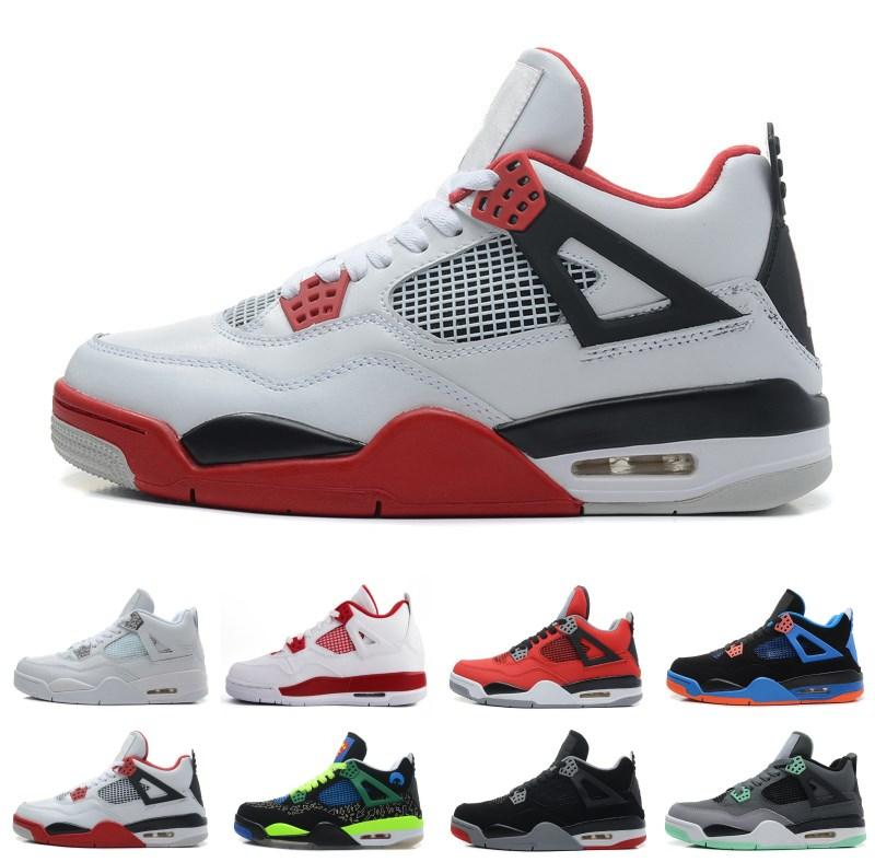 d0e9206e753a 2018 4 4s Basketball Shoes Men Pure Money Royalty White Cement Raptors Black  Cat Bred Fire Red Mens Trainers Sports Sneakers Size 8 13 Sneakers Shoes  Shoes ...