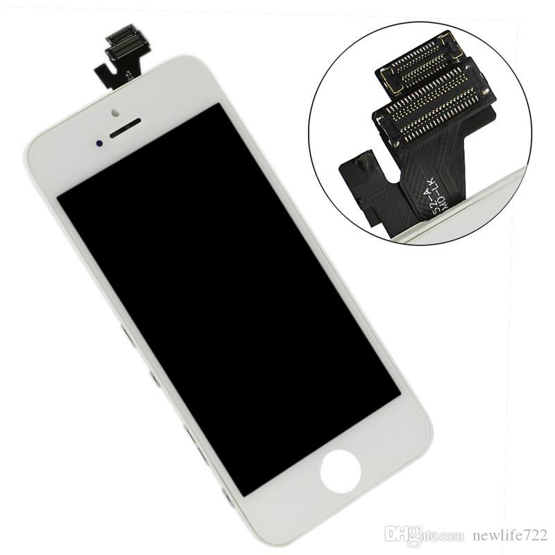 Für iphone 5 5g lcd montage mit touchscreen digitizer screen ersatz keine toten pixel dhl