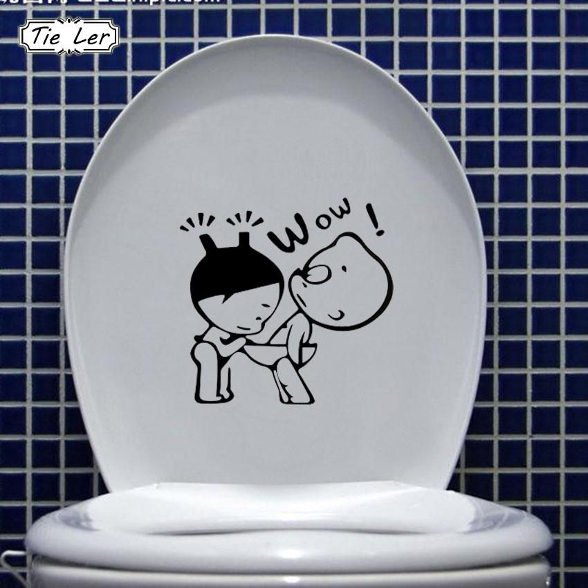 Funny Bathroom Decor Home Decoration Creative Toilet Stickers For Wc ...