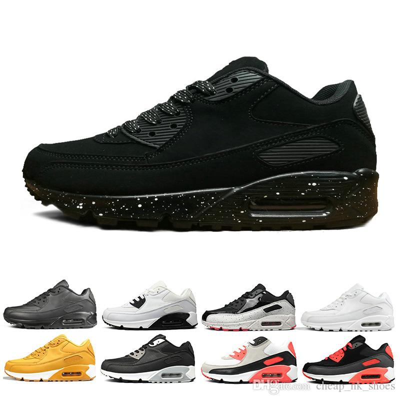 High Top Quality Air Max 90 Blanco Naranja Negro astilla