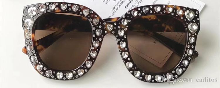 f37cbafc70 New 2018 Top Quality Luxury Round Sunglasses Women Italy Brand Designer  Diamond Sun Glasses Ladies Retro Black Shades Female Goggle Eyewear Glasses  For Men ...