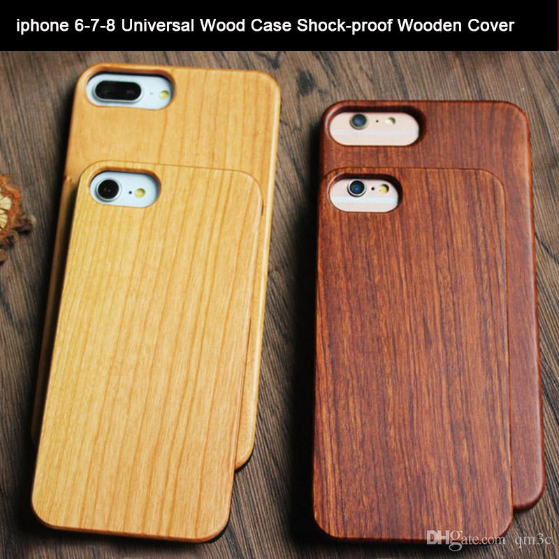 631d53081b For Iphone 8 7 6 6s Plus Universal Custom Wood Case Creative Cell Phone  Mobile Phone Cover Wooden Bamboo Cases For Apple Iphone 7 8 6 6s Best Phone  Cases ...