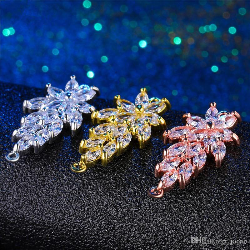Wholesale Handmade DIY Jewelry Findings Components Luxury Cubic