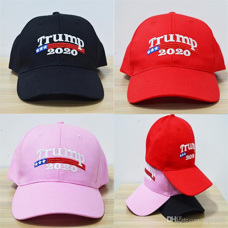 Embroidery Trump 2020 Make America Great Again Donald Baseball Caps Hats Adults Sports Hat TC180911 First Birthday And Tie