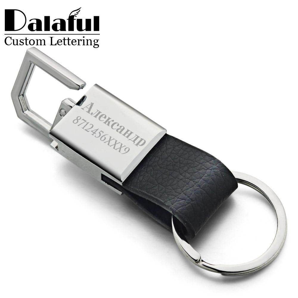 4e8260168 Custom Lettering Keychains Leather Keyrings Stainless Steel Engrave Name  Customized Logo Personalized Key Chain For Car K371 Unique Keychains  Keychain From ...