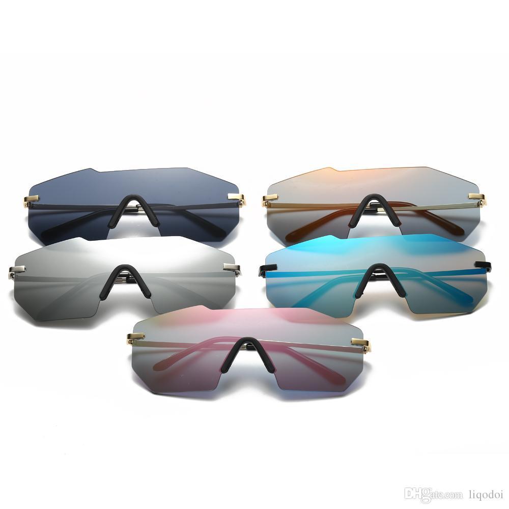 Klassische Randlose Sonnenbrille Mann Marke Designer Big Siz Männlichen sonnenbrille Spiegel Objektiv Sonnenbrille Frauen Männer Brillen UV400