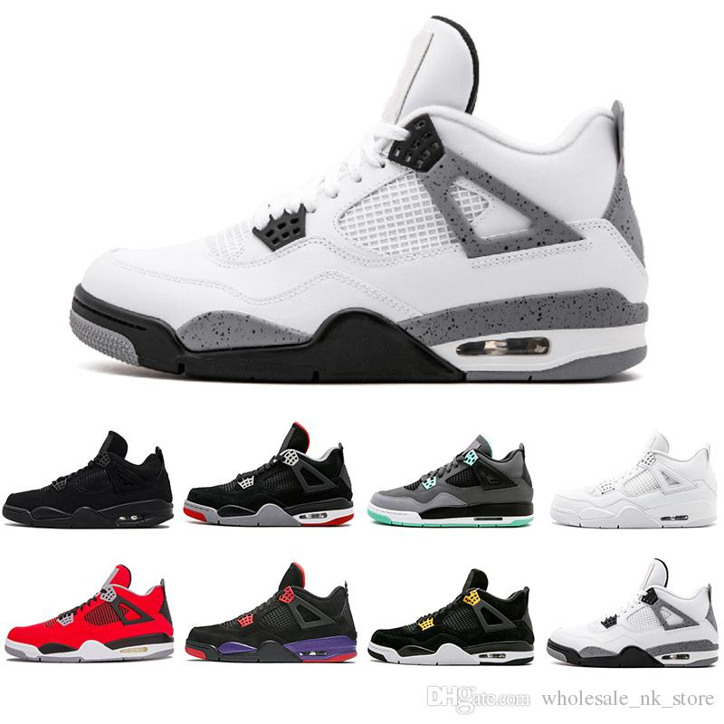 8e133734a22ab With Box 4 4s Basketball Shoes Pure Money Royalty White Cement Green ...