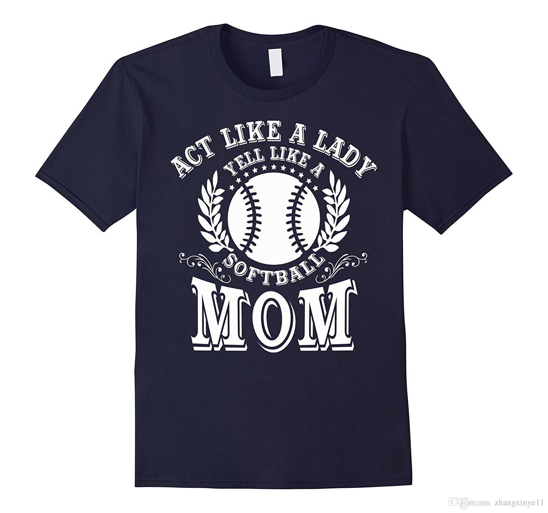 Grosshandel Yell Like A Softball Mom T Shirt Mutter Tag T Shirt Von