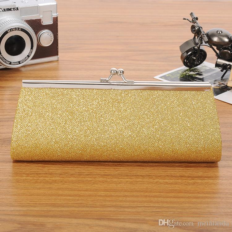 69841b4a50 Hot Sale Women New Handbags Glitter Handbag Party Lady Clutch Purse PVC  Wedding Bridal Evening Bag with Chain Free Shipping