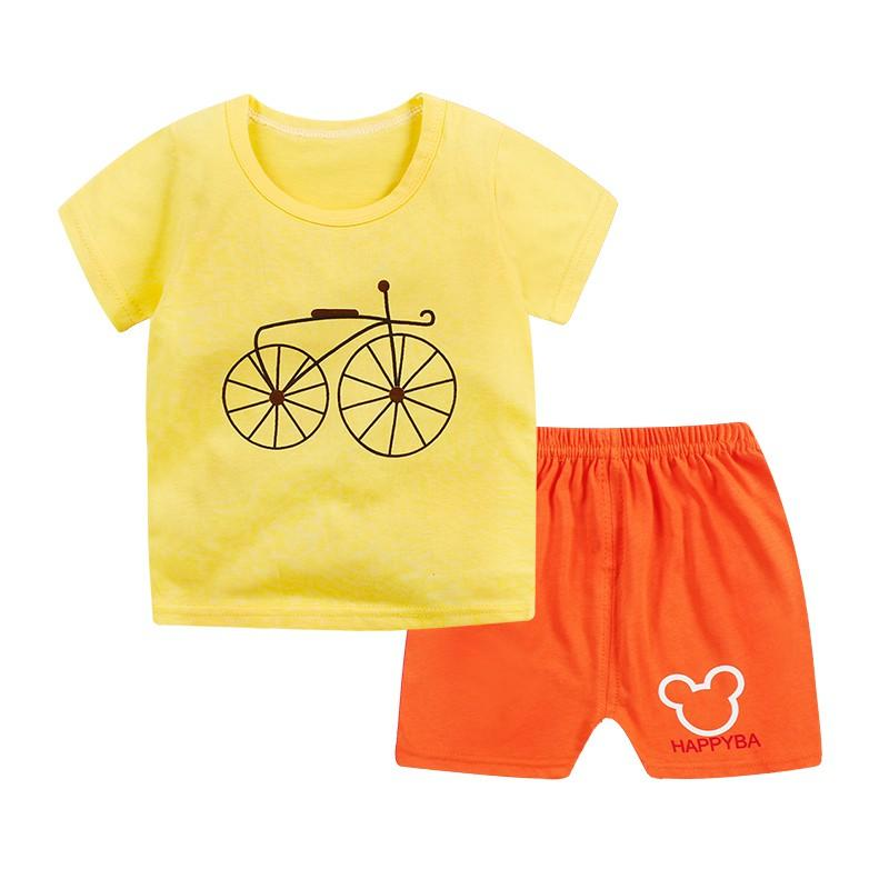 91a6c8701e80 2019 Popular Summer Kids Boys Girls Casual Cute Cotton Printing Short  Sleeve T Shirt Tops + Shorts Pants Clothes Sets From Ouronlinelife, $26.84  | DHgate.