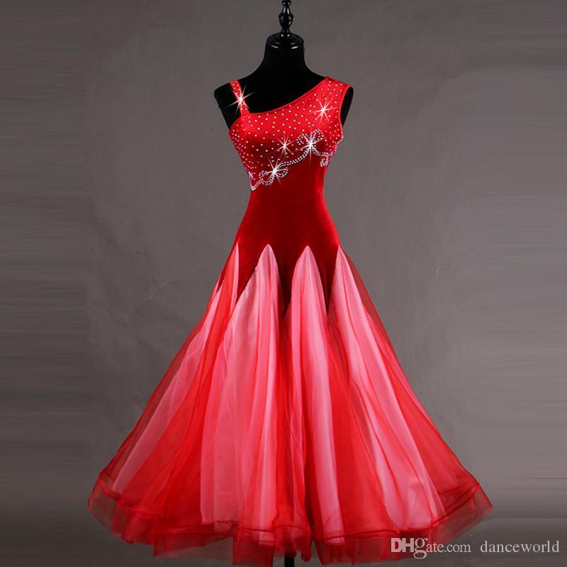 2018 Ballroom Dance Compétition Robes De Formatura Standard Robe De Bal Robes De Festas Lulu Danse Concours De Danse