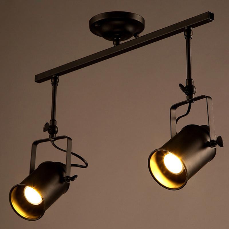 5W Industrial Ceiling Lamp Retro Loft LED black Track Light for Clothing Living room Bar spotlight Light Commercial Store