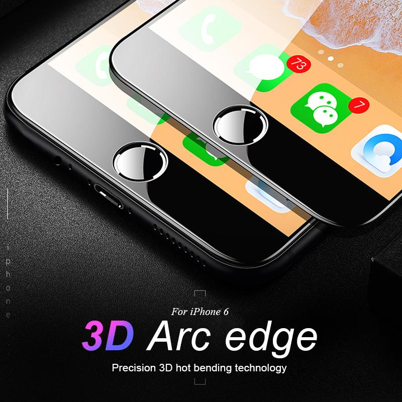 pretty nice 6a07a 421fd RZP 3D Curved Edge Full Cover Screen Protector For iPhone 6S Plus Tempered  Glass On The For Apple iPhone 6 s 6s Plus Glass Film