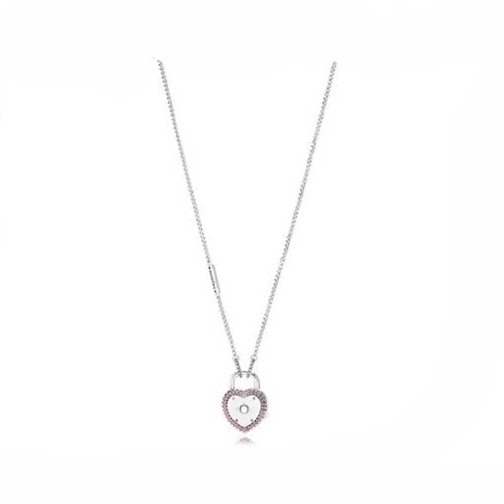 794363724ba2 Real 925 plata esterlina Bloquea tu collar de promesa para las mujeres de  moda Fabricación de joyas