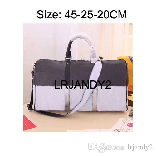 ba5f9b99a26d AAAAA 45CM REGATTA KEEPALL VOYAGER Genuine Leather Mens Travel Bag Weekend  Duffle Bag Luxury Brand Carry On GYM Bag Luggage Messenger Bags For Men  Hobo Bags ...