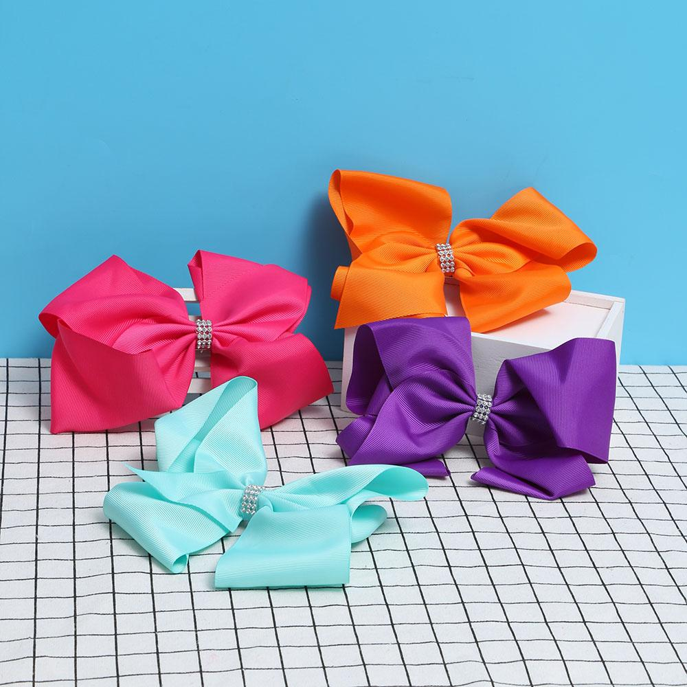 8 Inch Big bowknot hairpins girl barrettes large colorful bow hair clip Hair Accessories 2018 Newest