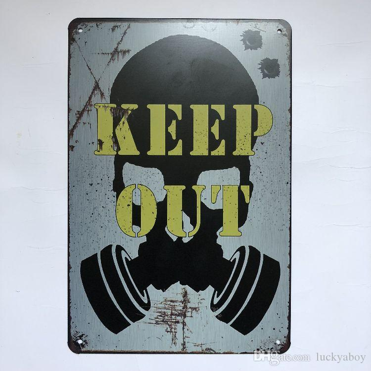 Keep Out Vintage Rustic Home Decor Bar Pub Hotel Restaurant Coffee Shop home Decorative Metal Retro Metal Tin Sign