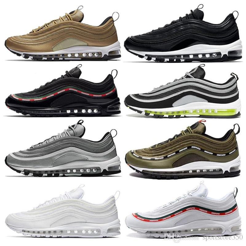 d95ad09b7b3 2019 New 97 OG X Undftd Black Green White Speed Pink Top Quality Mens 97S  Running Shoes For Women Sports Athletic Designer Shoes Sneakers East Bay  Shoes ...