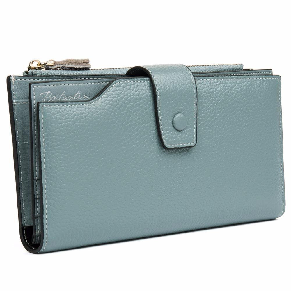 8cb2979d157f Women Wallet Luxury Brand Genuine Leather Long Female Clutch Wallet ...